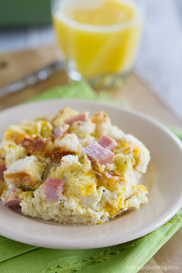 ... easy and family pleasing Ham and Cheese Breakfast Casserole Recipe