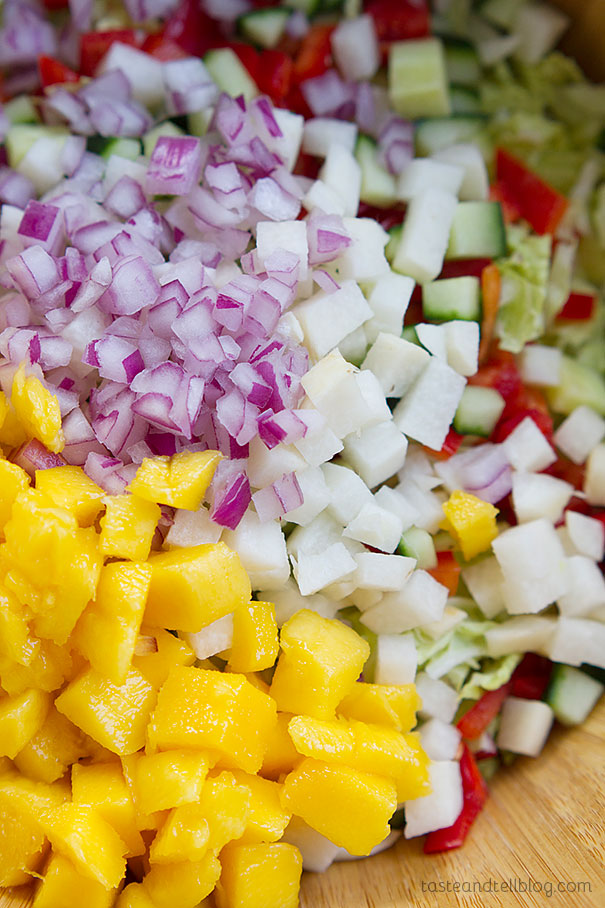 Mango Chicken Salad - fresh and full of flavor - great to eat as a salad or turn into a wrap or sandwich.