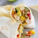 Mango Chicken Salad - chicken, mango and lots of veggies - Serve on tortillas as a wrap, on a sandwich, or just straight from the bowl!