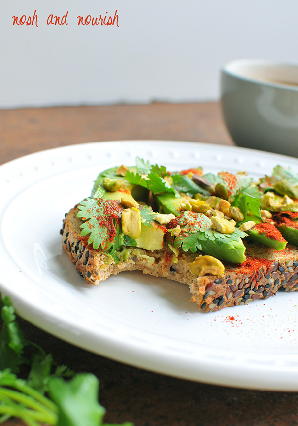 Nosh and Nourish - Avocado Lime Toast