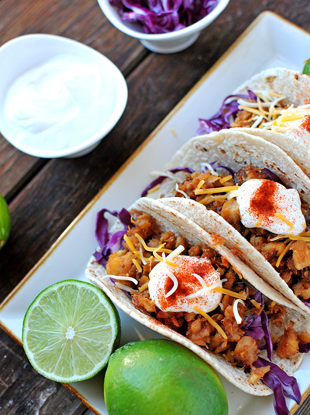 Nosh and Nourish - Honey Sesame Fish Tacos