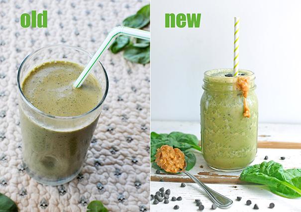 Nosh and Nourish - Reeses Spinach Smoothie