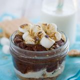 Summer Dessert - Peanut Butter S'mores in a Jar