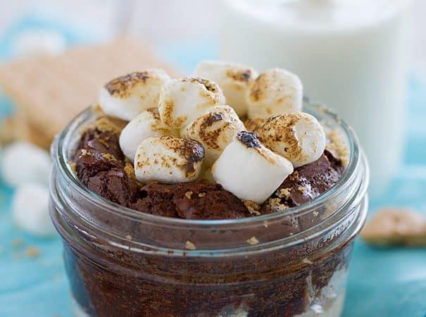 Summer Dessert - Peanut Butter S'mores in a Jar