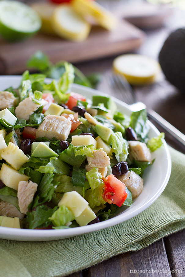 Southwest Chicken Salad - a hearty dinner salad filled with lots of healthy and delicious ingredients.