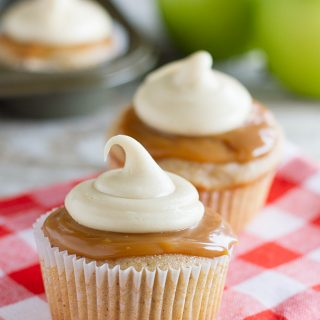 Caramel Apple Cupcakes - it is fall in a cupcake!