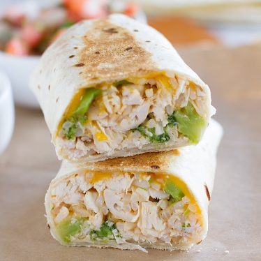 Chicken and Broccoli Grilled Burritos Recipe