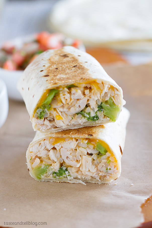 Chicken And Broccoli Grilled Burritos Taste And Tell