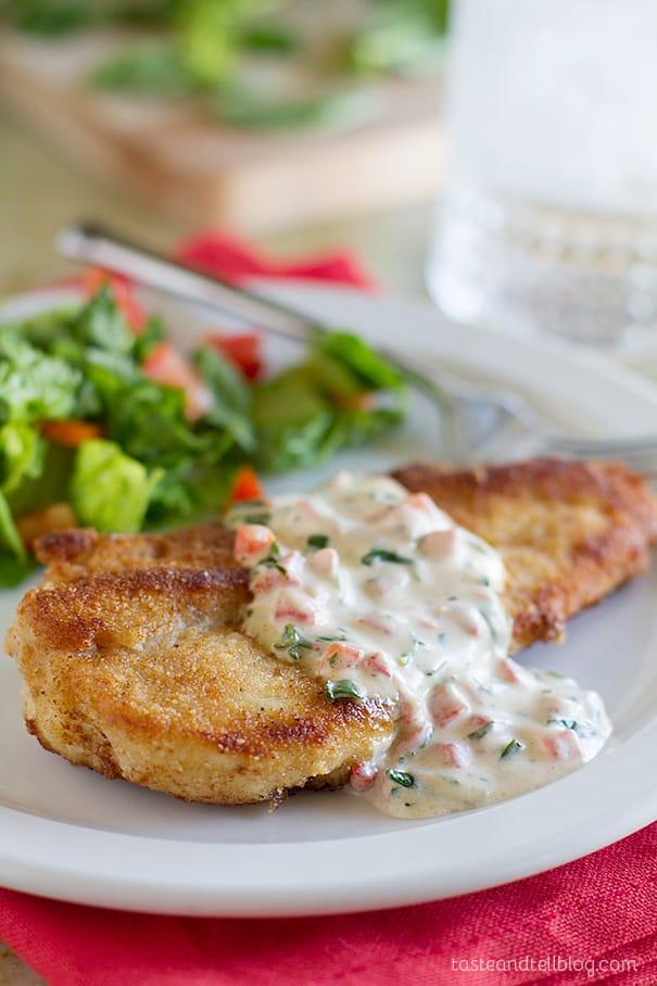 Recipe for Chicken in a delicious Basil Cream Sauce