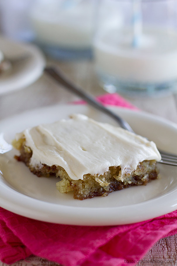 Filled with cinnamon, spice and everything nice, this Cinnamon Roll Sheet Cake is super tender and moist and addictive!