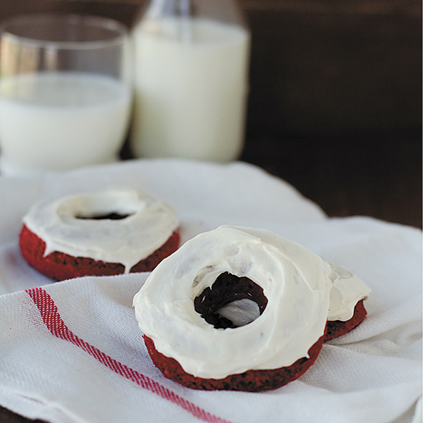 Baked Donuts with Cream Cheese Frosting