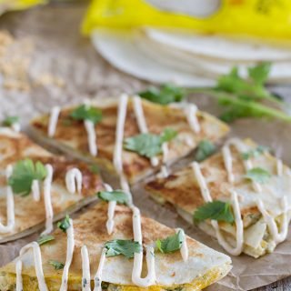 Easy dinner idea - Creamy Quesadilla Recipe