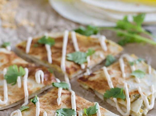 Easy dinner idea - Creamy Quesadilla Recipe