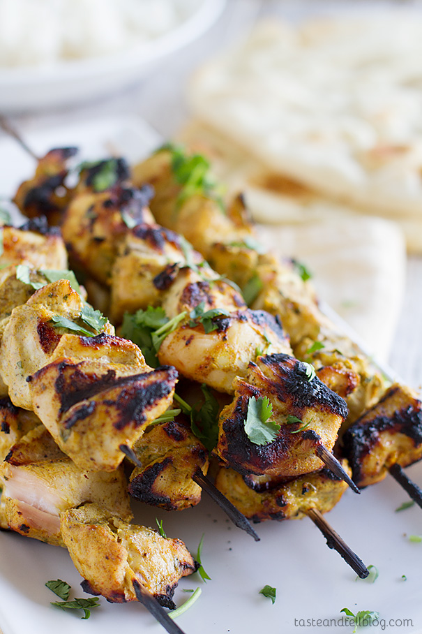 Grilled Indian Chicken Skewers Recipe
