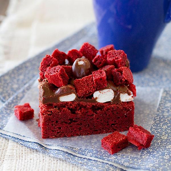 Marshmallow Rockslide Brownies