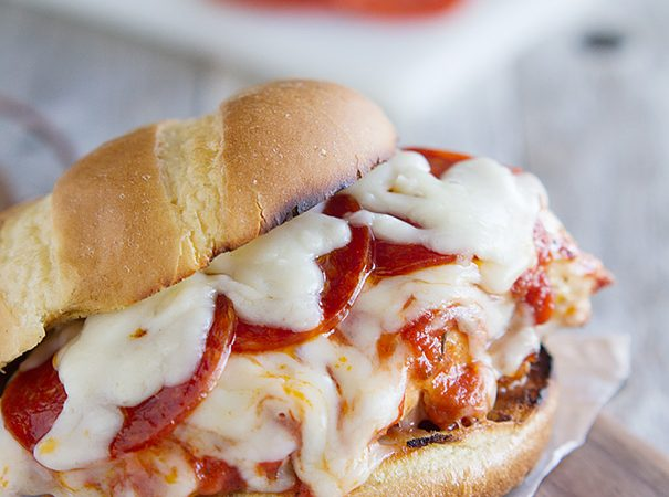 Pizza Topped Grilled Chicken Sandwich