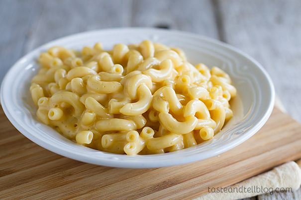 Mac and Cheese before a veggie makeover!