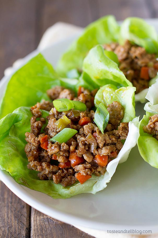 Asian chicken lettuce wraps taste and tell dinner in under 30 minutes these asian chicken lettuce wraps are your solution for an forumfinder Gallery