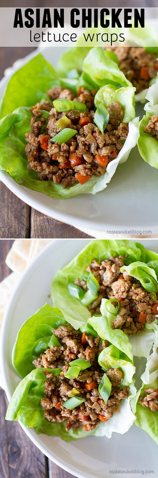 Dinner in under 30 minutes! These Asian Chicken Lettuce Wraps are your solution for an easy chicken dinner.