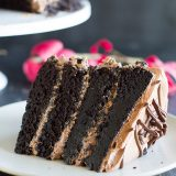 Dark Chocolate Cake recipe with Nutella Buttercream