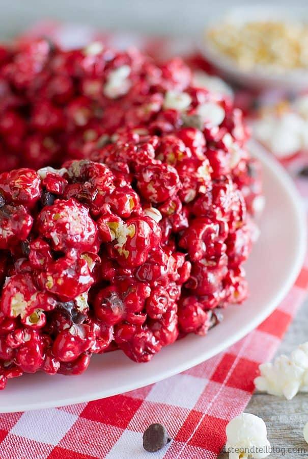 Red Velvet Popcorn Cake