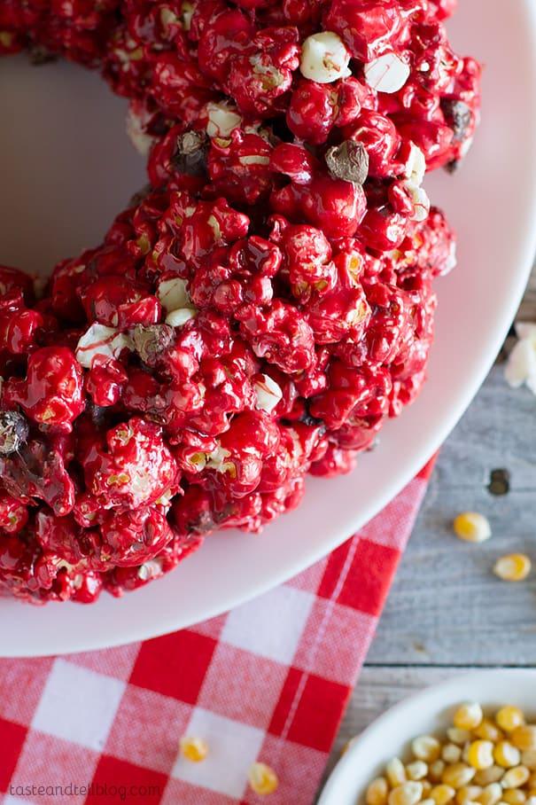 Red Velvet Popcorn Cake Recipe