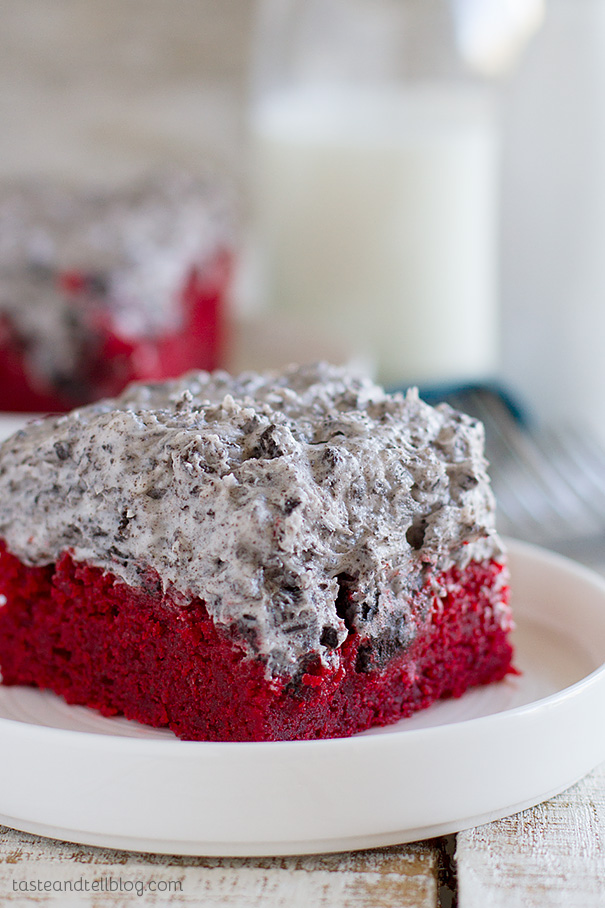 Simple and perfect – this red velvet sheet cake recipe makes a cake ...