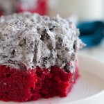 The perfect red velvet cake - Red Velvet Sheet Cake Recipe with Cookies and Cream Frosting