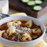 Hearty and filling, this Sausage and Tortellini Soup is the perfect way to warm up on cool nights.