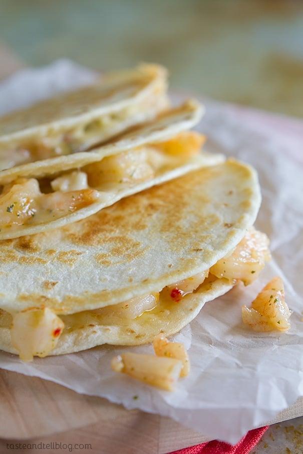 Shrimp Scampi Quesadilla Recipe