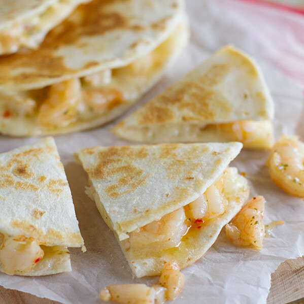 Easy Dinner Idea - Shrimp Scampi Quesadilla Recipe