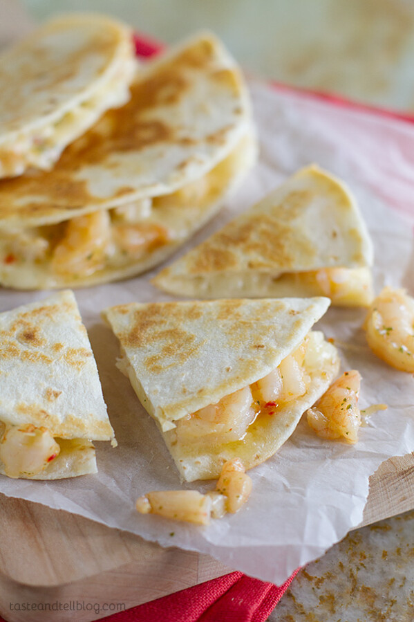 Easy Dinner Idea - Shrimp Scampi Quesadilla Recipe