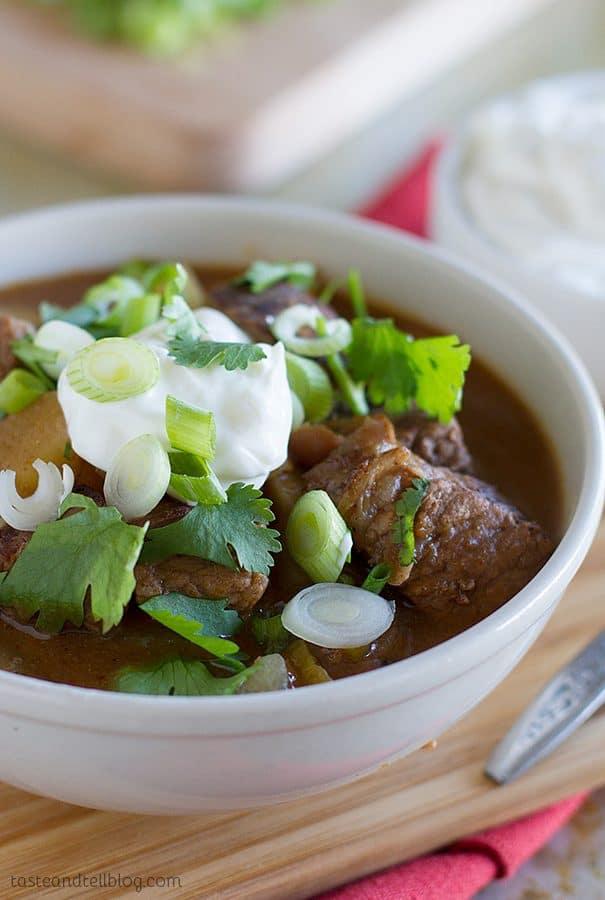 Slow Cooker Enchilada Beef Stew Recipe