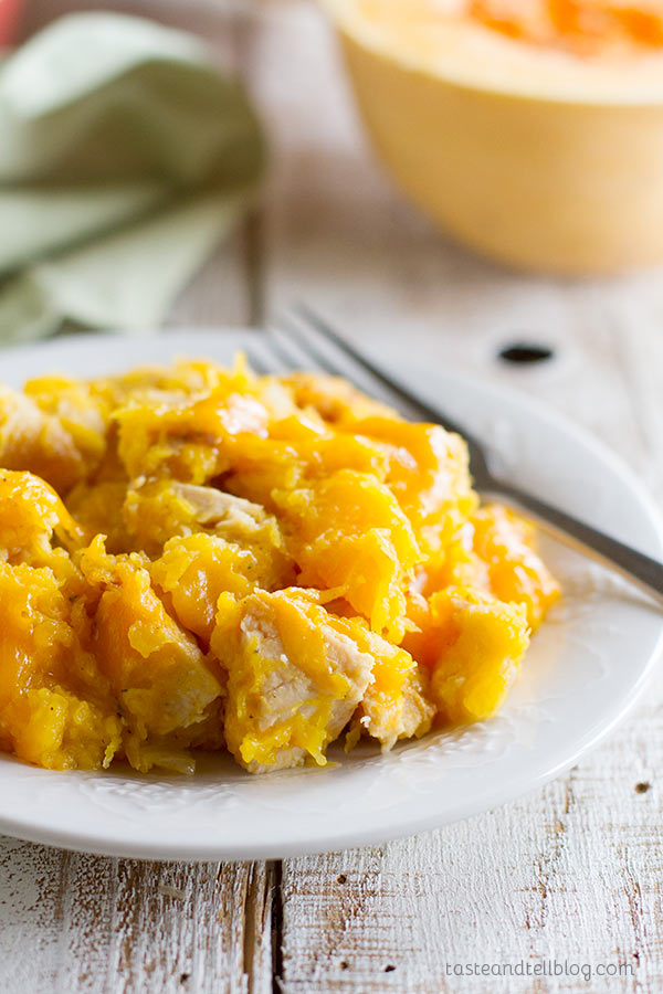 Butternut Squash and Turkey Casserole - Don't judge a book by it's cover - this Butternut Squash and Turkey Casserole may not look like much, but it's packed with flavor and a delicious way to use up turkey leftovers.