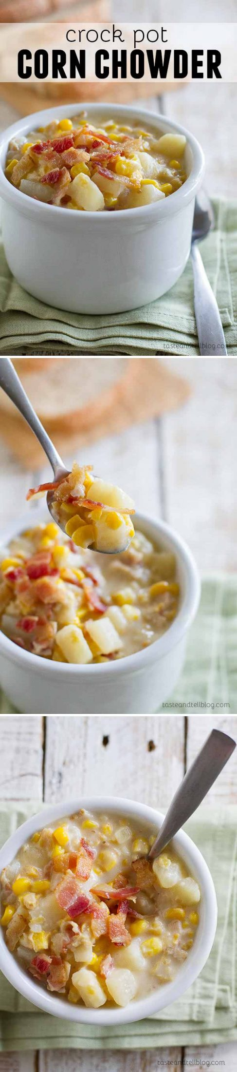 My mom's recipe for Crock Pot Corn Chowder - you can't go wrong when it's mom's recipe!