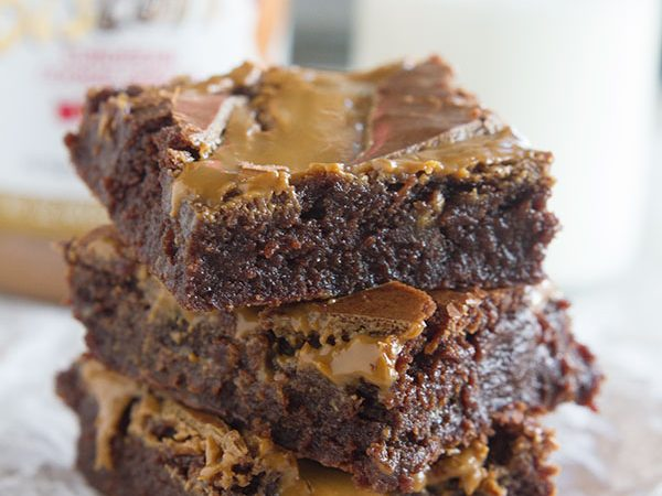 Fudgy Biscoff Swirl Brownies - rich chocolate, fudgy brownies are topped with a Biscoff swirl for a decadent and irresistible brownie.