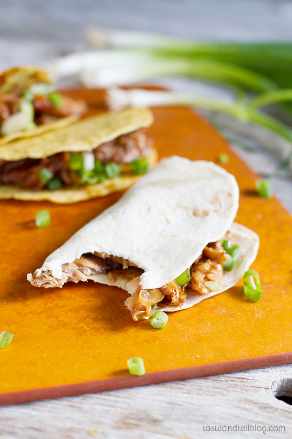 Change up taco night with these Honey Garlic Chicken Tacos!