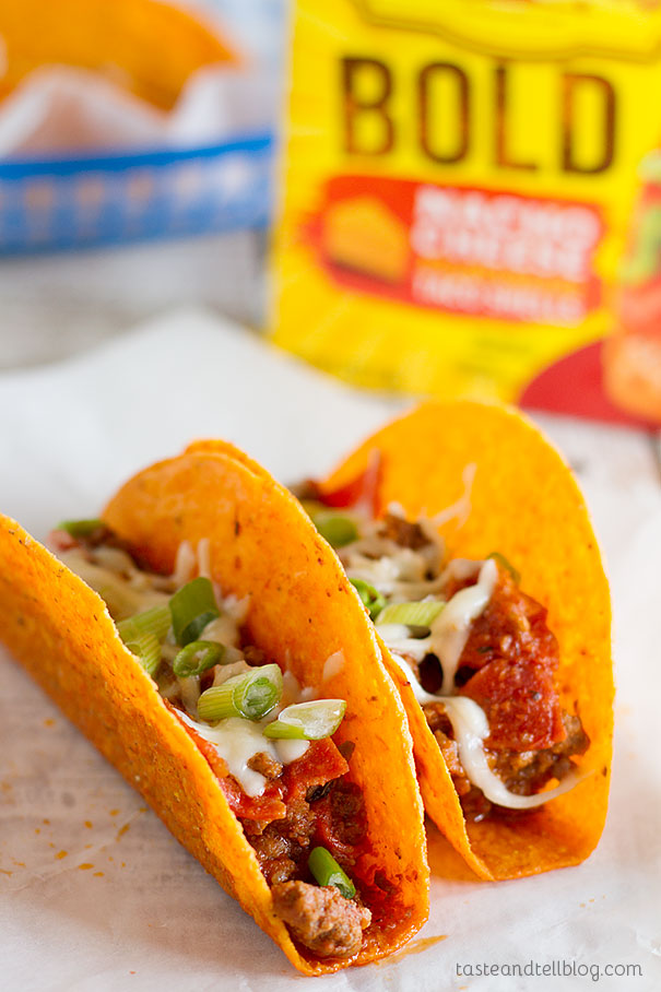 Pizza night meets taco night with these Meat Lovers Pizza Tacos