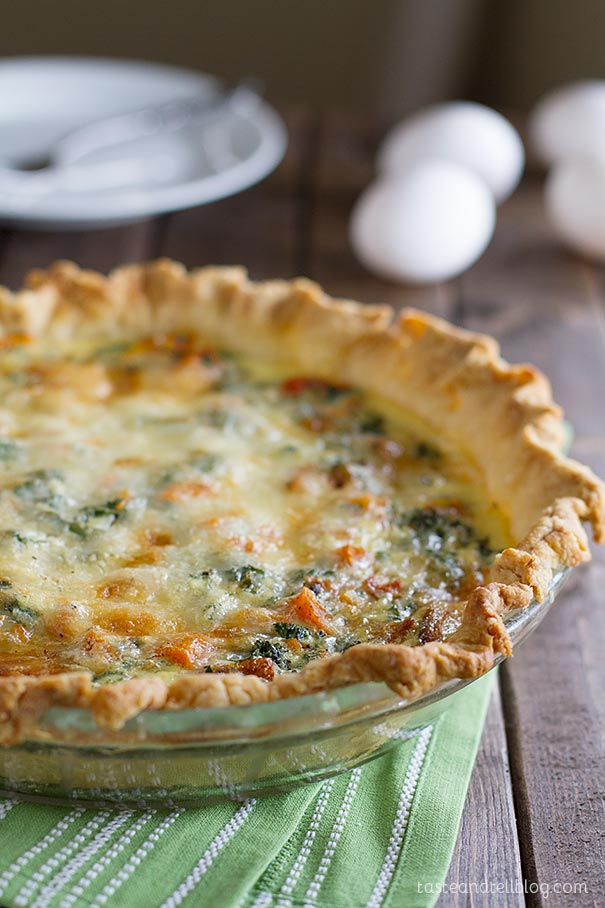 Even meat lovers will fall in love with this veggie packed Quiche Recipe with Butternut Squash and Kale!