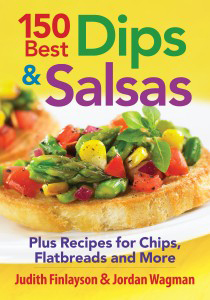 150 Best Dips and Salsas review, including a recipe for Feta and Roasted Red Pepper Dip