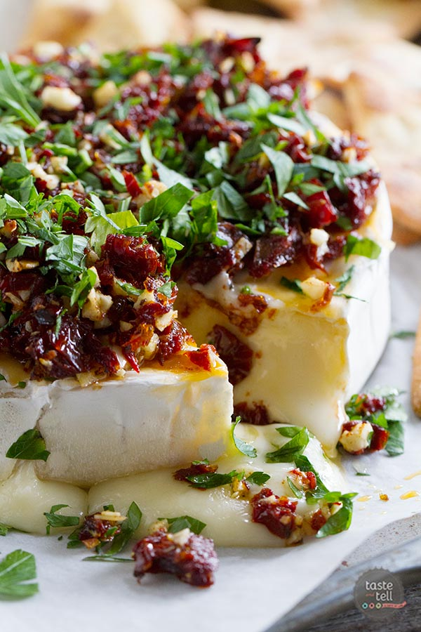baked brie with sundried tomatoes and capers recipes savory baked brie ...