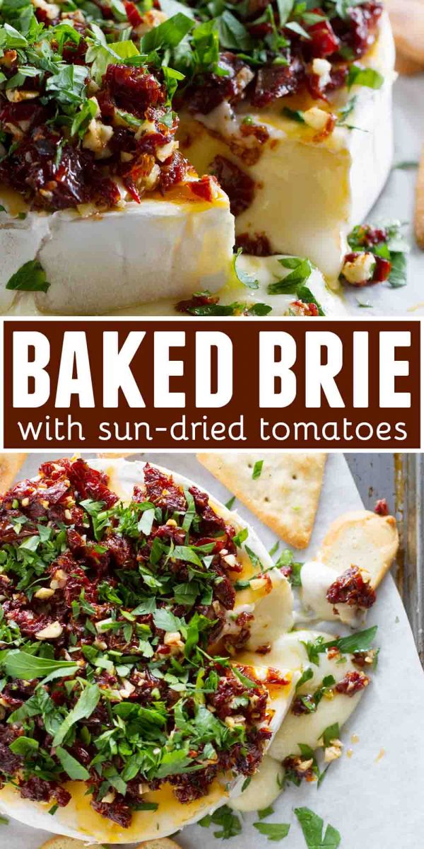 How to make Baked Brie Recipe with Sun-Dried Tomatoes
