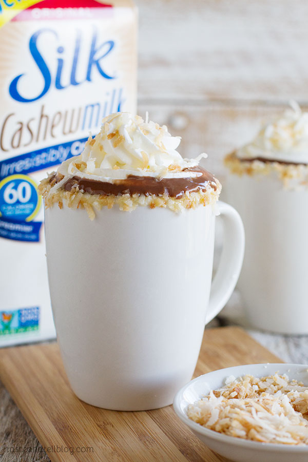 The perfect way to warm up on a cold day - Cashew Coconut Hot Chocolate Recipe