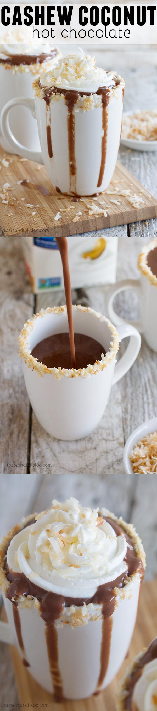 Cashew Coconut Hot Chocolate Recipe - thick and creamy and full of flavor!