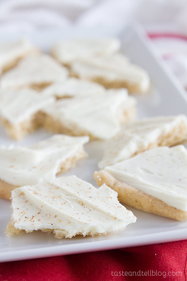 This Eggnog Cookie Bark is a fun way to serve up holiday cookies!