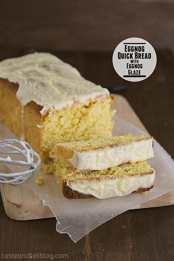 Enjoy eggnog any time of day with this Eggnog Quick Bread with Eggnog Glaze that would be perfect for breakfast, snack time or dessert.