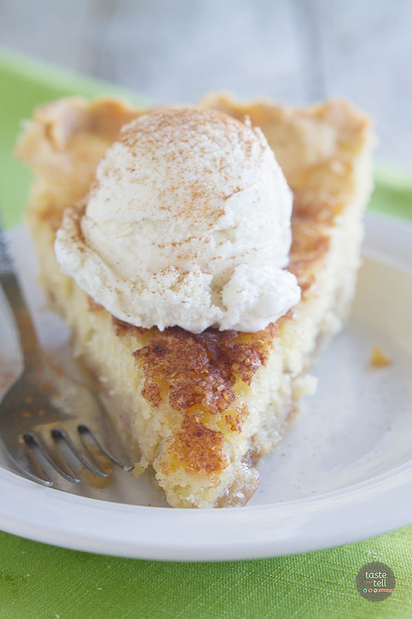 Snickerdoodle Pie - a buttery crust, soft cookie filling and cinnamon caramel make up this amazing pie.