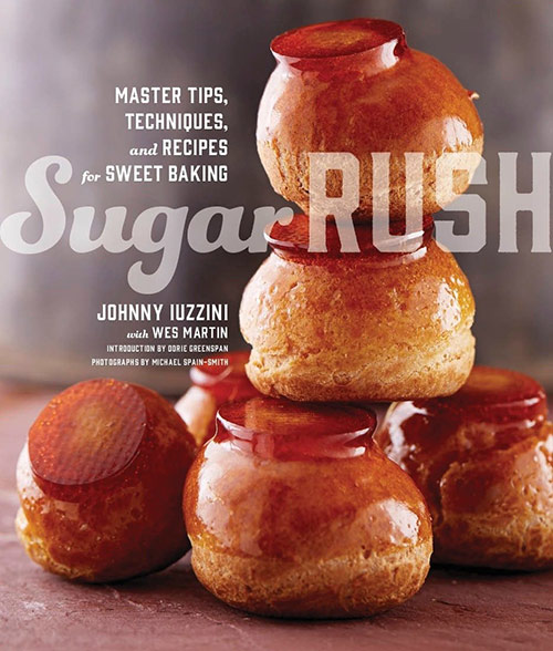 A review of Sugar Rush by Johnny Iuzzini and Crumb Cake Recipe.