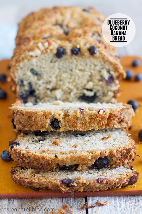 Blueberry Coconut Banana Bread Recipe on Taste and Tell