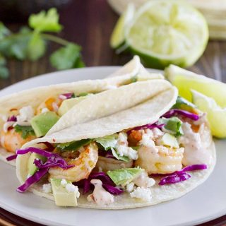 Easy, quick dinner idea - Chipotle Lime Shrimp Tacos recipe